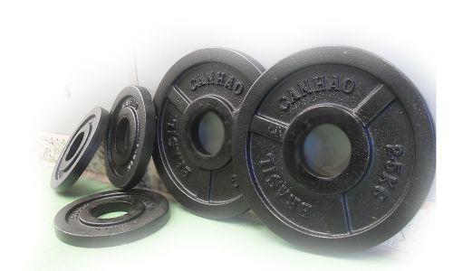 Kit 37,5kg de anilhas olímpicas de ferro